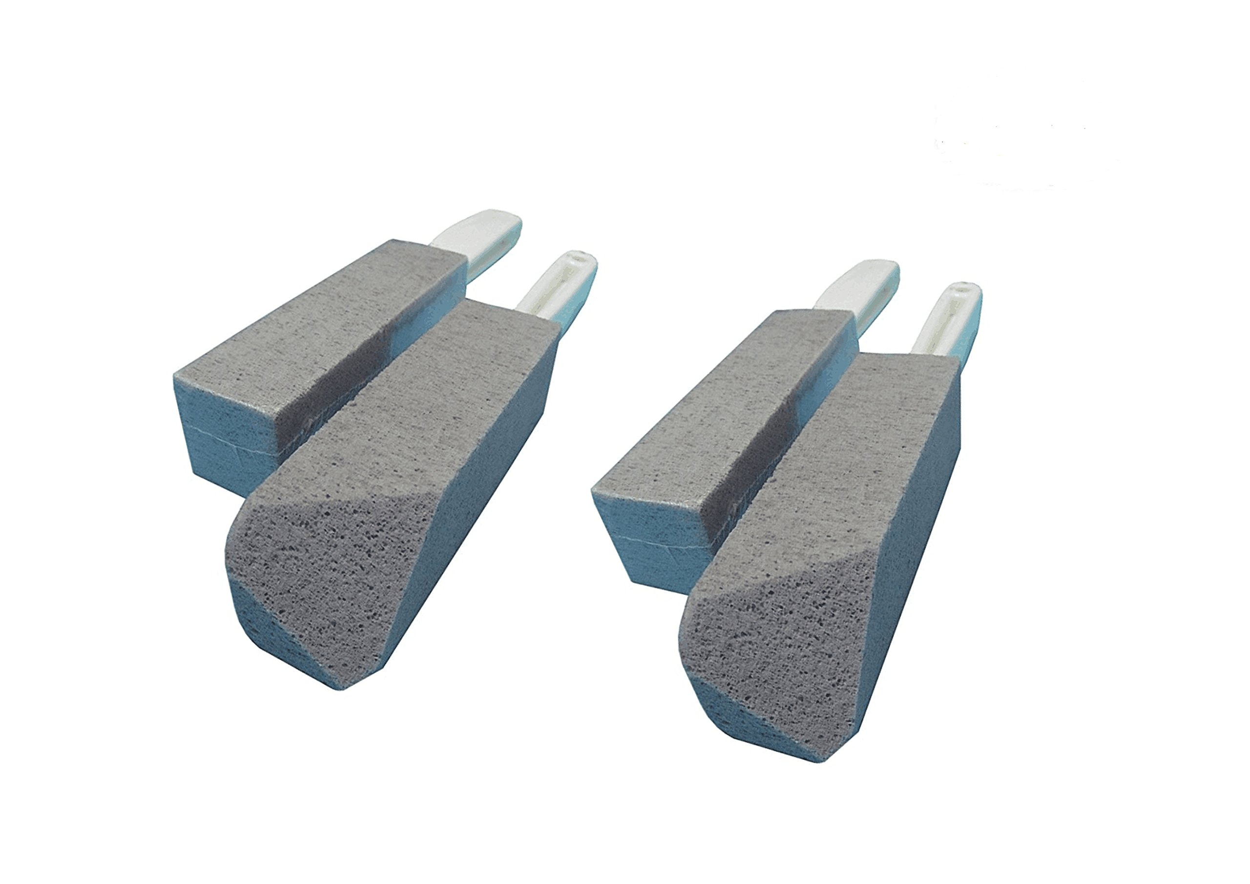 Bestsupplier 4 Pack Pumice Cleaning Stone, Toilet Bowl Pumice Cleaning Stone with Handle Stains and Hard Water Ring Remover Rust Grill Griddle Cleaner for Kitchen/Bath/Pool/Spa/Household Cleaning