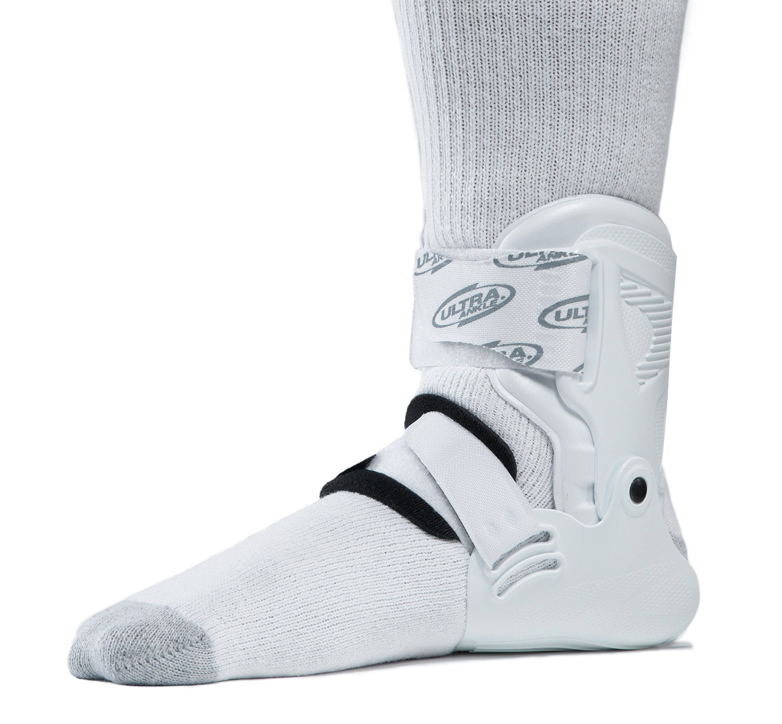 Ultra Ankle Ultra Zoom Ankle Brace for Injury Prevention, Ankle Support and Helping to Prevent sprained Ankles. Performance and Protection Without Limits. (Small/Medium, White)