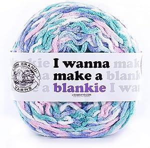 Lion Brand Yarn Wanna Make a Blankie Yarn, Calluna