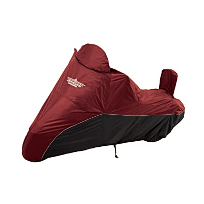 UltraGard 4-459AB Cranberry/Black Cruiser Motorcycle Cover: Automotive