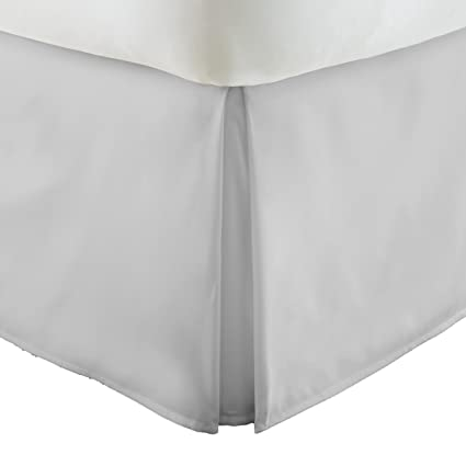 ienjoy Home Ieh-Bedskirt-Calking-Lgray Collection Pleated Bed Skirt