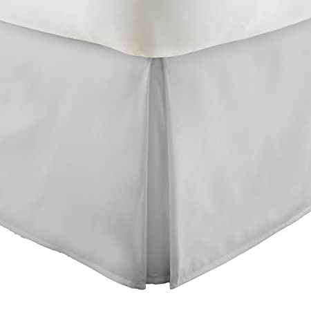 Becky Cameron BC-BEDSKIRT-Full-LGRAY Pleated Bed Skirt, Gray