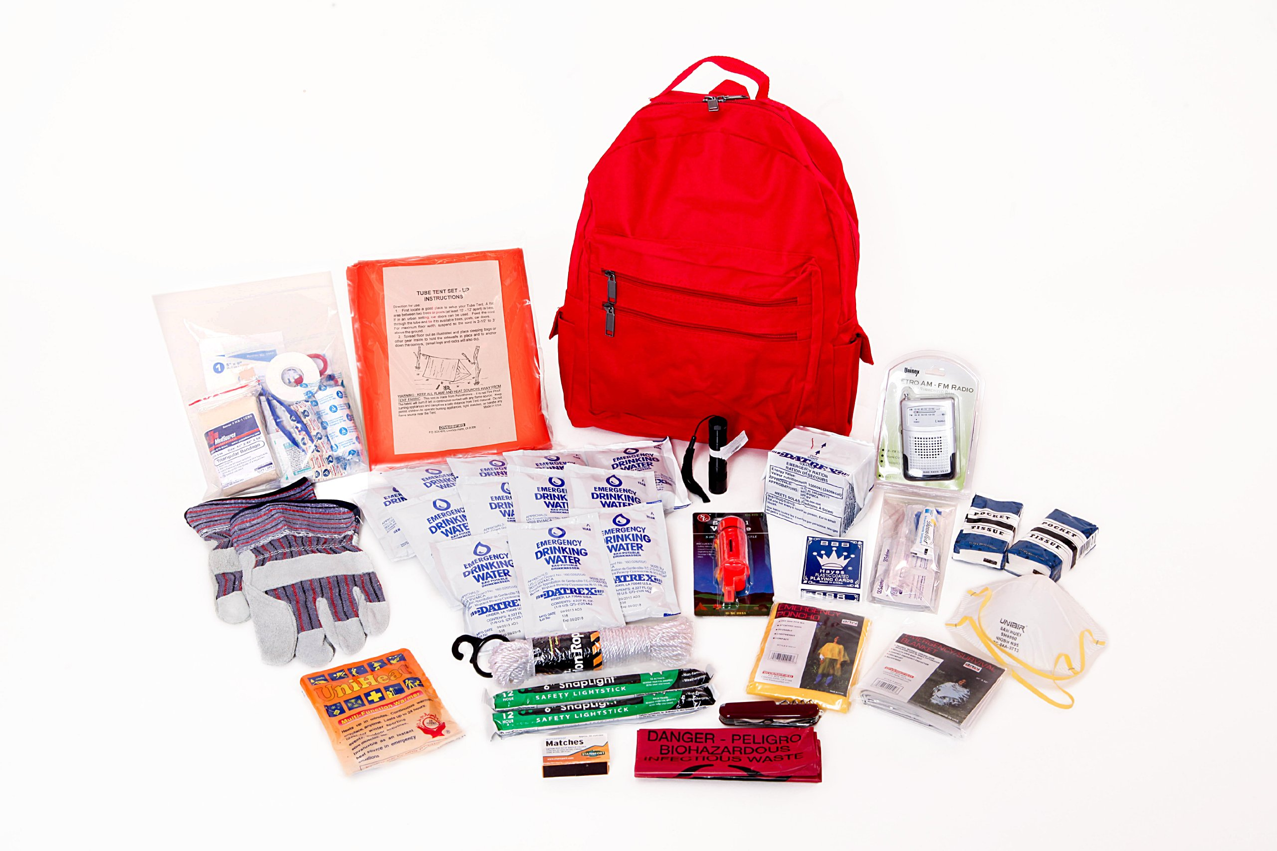 1 Person Deluxe Survival Kit Ideal for Earthquake, Evacuation, Emergency Disaster Preparedness 72 Hour Kits for Home, Work or Auto: 1 Person by Survival Prep Warehouse