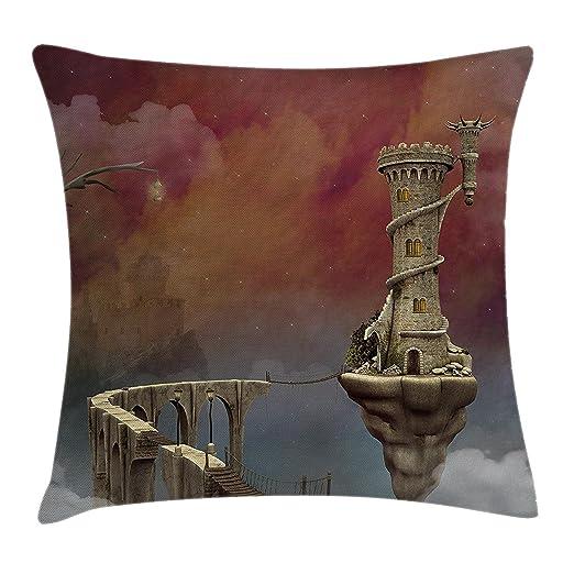 Pillow hats Fantasy Decor Funda de cojín, diseño de Castillo ...