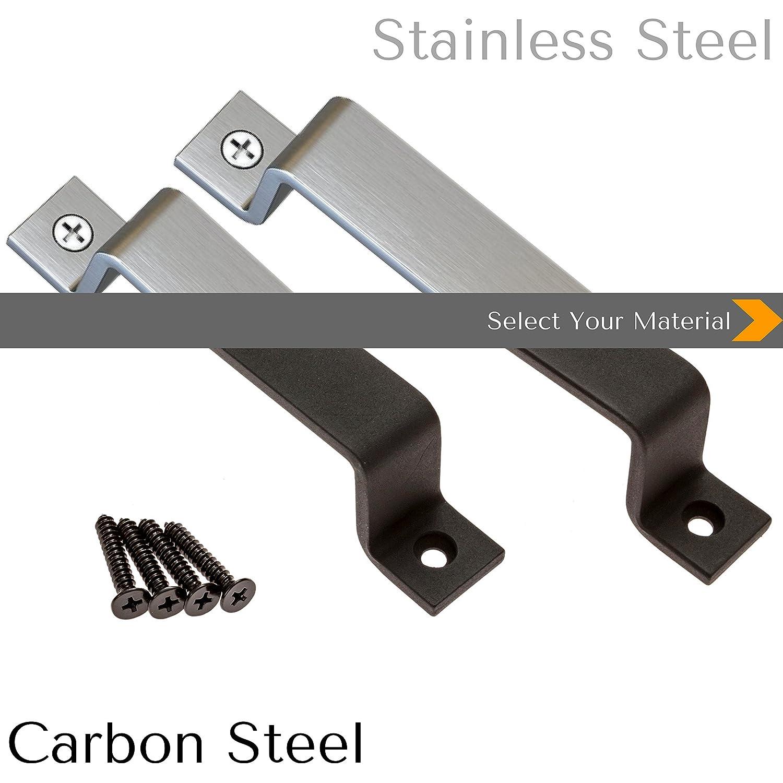 Black Steel or Stainless Steel Screws Included Sliding Barn Door Handle Pull Set