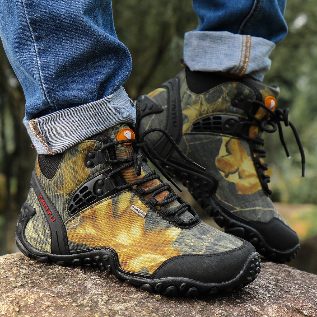 Gomnear de los Hombres Botas de Monta/ña Trekking Zapatos Al Aire Libre Deporte Antideslizante Respirable para Caminar Alpinismo Zapatillas