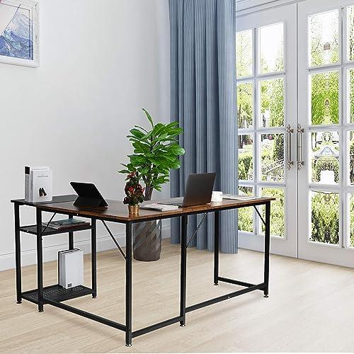 MU L-Shaped Computer Desk