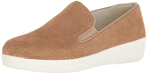 a5287748a7db05 Fitflop™ Superskate Perforated Womens Casual Slip On Shoes 3 Soft Brown  Suede
