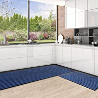 Color&Geometry Durable Kitchen Rugs and Mats Non Skid Washable, 2 Piece Kitchen Mat Set, Absorbent Kitchen Runner Rug…