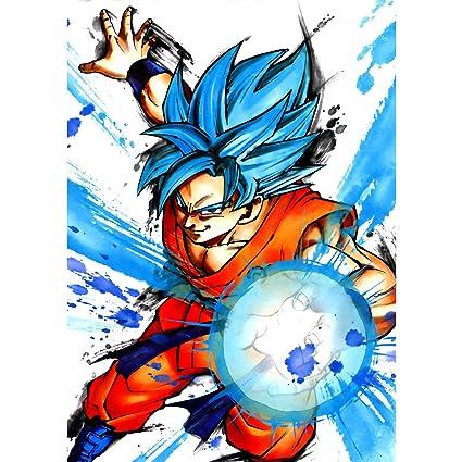 Super Ball Bleu Dragon Fabulous Cheveux Affiche Goku Poster