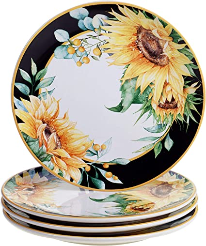 Sunflower Fields Dinner Plates, Set of 4 | Certified