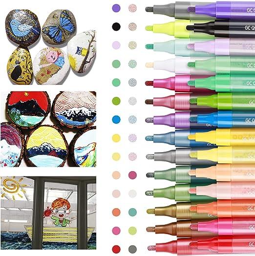 Art Filzstift Acrylic Painter für Stein Schwarze Acrylstifte Marker Stifte