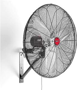 "OEMTOOLS 30"" Oscillating Black Wall Mount Fan, New Model"