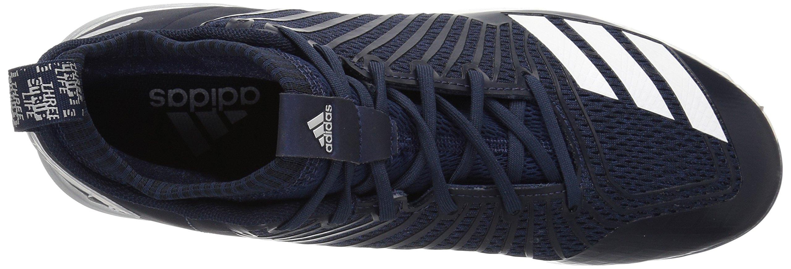 adidas Men's Freak X Carbon Mid Baseball Shoe, Collegiate Navy/White/Metallic Silver, 8 Medium US by adidas (Image #8)