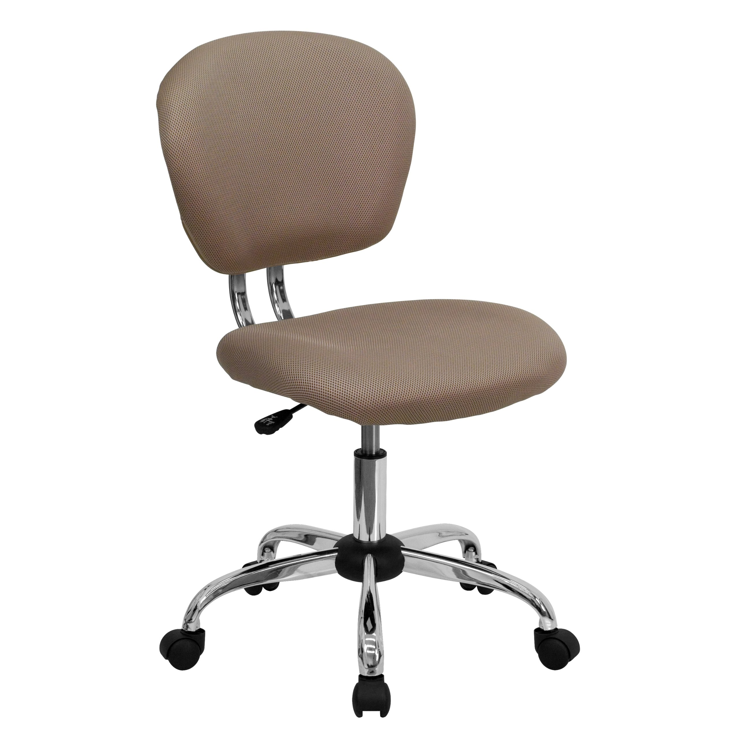 ERGONOMIC HOME MID-Back Coffee Brown MESH Padded Swivel Task Chair with Chrome Base