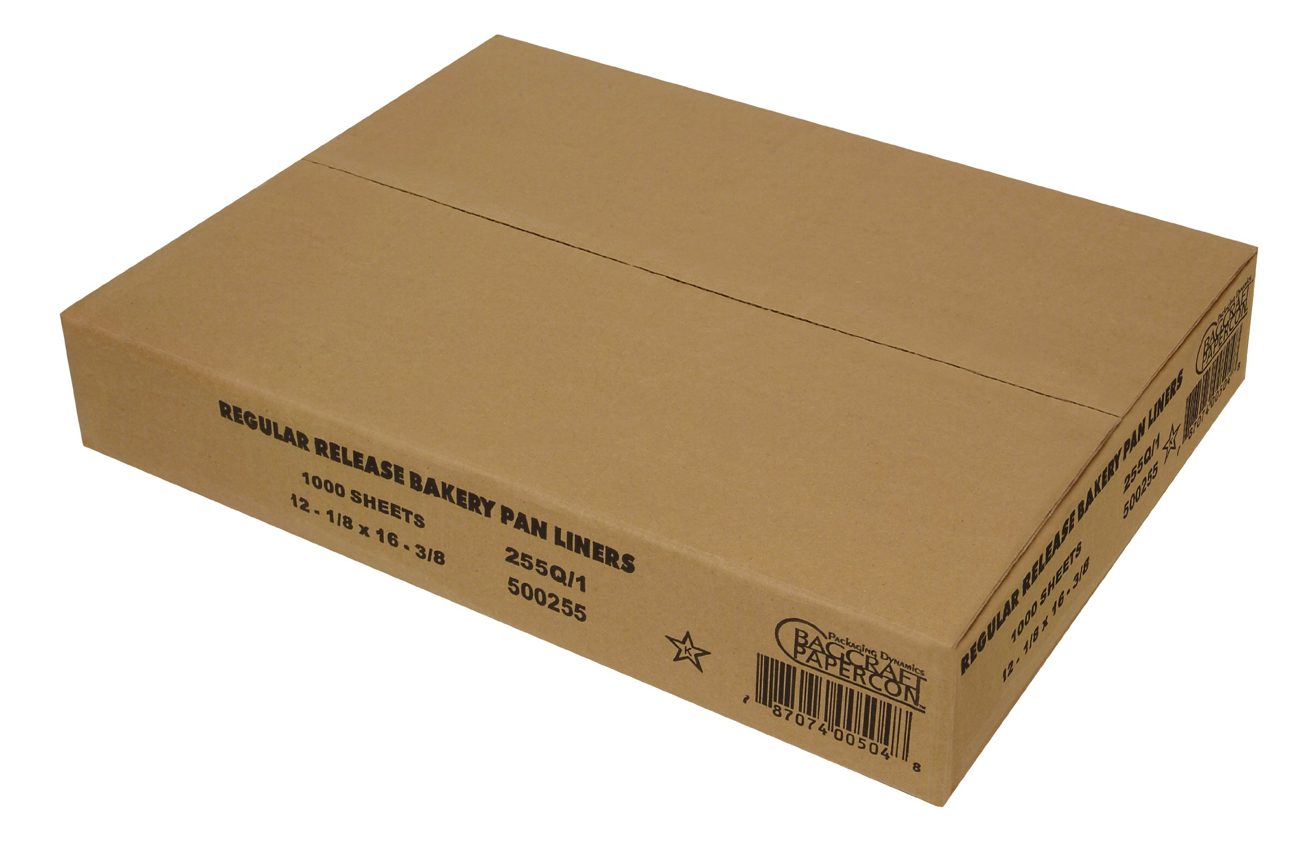 Bagcraft Papercon 500255 Grease Proof Premium Quilon Half Pan Liner with Standard Release, 16-3/8'' Length x 12-1/8'' Width x 12-1/8'' Height (Case of 1000)