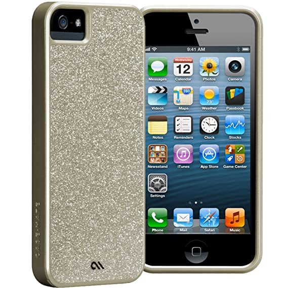 new style 13fc7 6dddb Case-Mate Barely There Glam Case for Apple iPhone 5/5S- Champagne