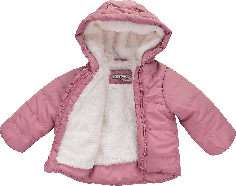 Pocopiano Baby M/ädchen Jacke Steppjacke Winterjacke mit Kapuze Rosa