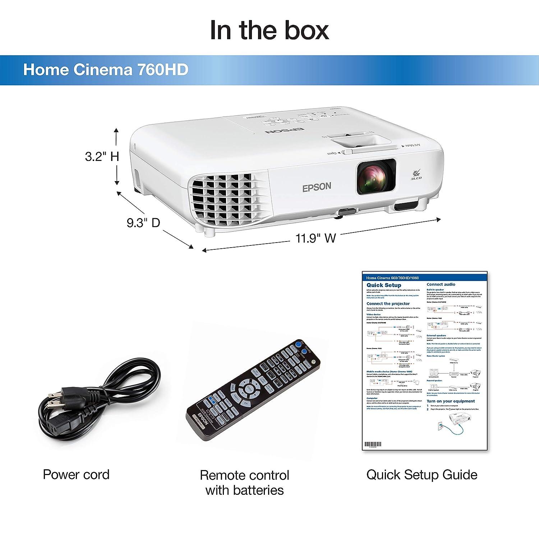 Epson Home Cinema 740HD 720p (reacondicionado Certificado): Amazon ...