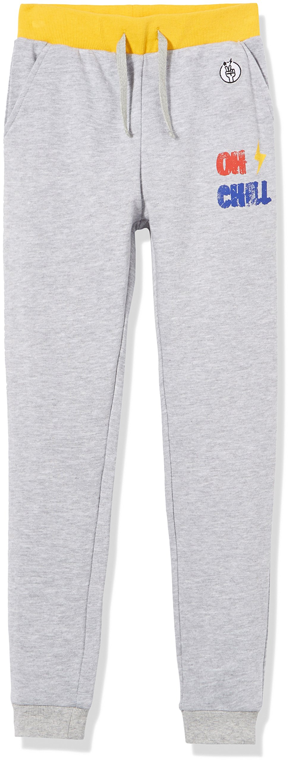 Kid Nation Kids' French Terry Jogger for Boys Or Girls XL Gray