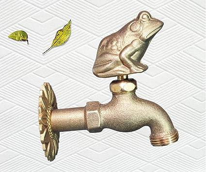 Amazon.com : Taiwan Decorative Solid Brass Frog Garden Outdoor ...