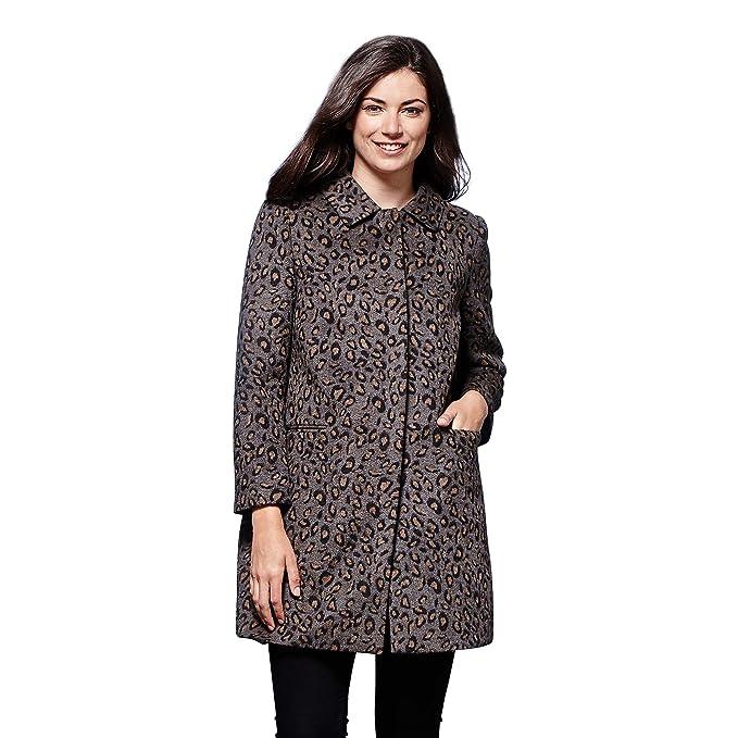 b2c5d7449a4db Leopard Print Coat  Amazon.co.uk  Clothing