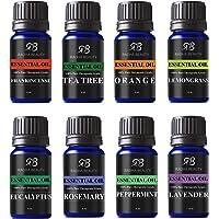 Radha Beauty - Los mejores 8 aceites esenciales 100% puro de grado terapéutico para aromaterapia. Muestras básicas de…