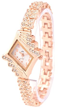 a4e84e709e4 Aelo Rose Gold Analog White Dial Girls Watch - Www1042  Amazon.in  Watches