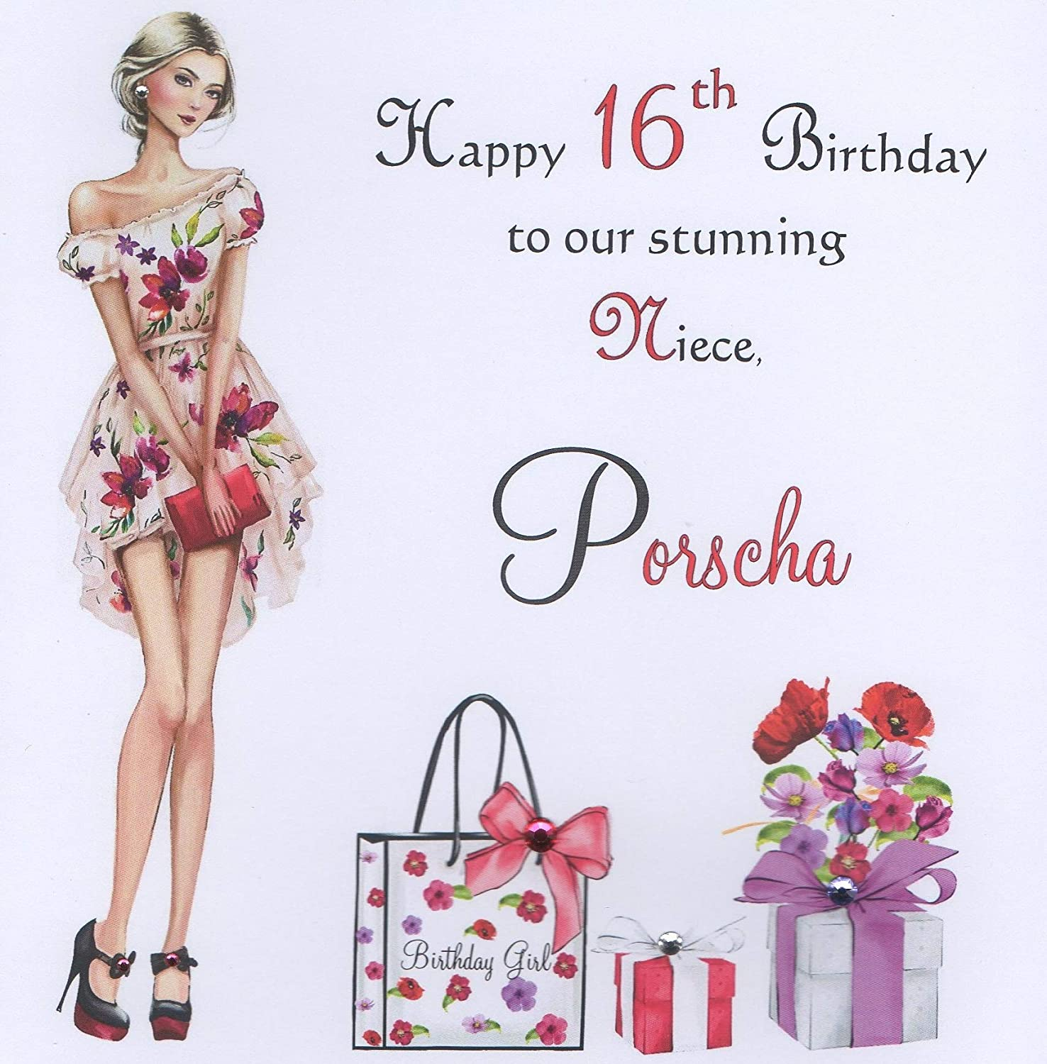 Personalised Birthday Card Daughter Grand Daughter Niece Sister 16th 18th 21st