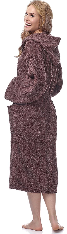 Ladeheid Damen Frottee Bademantel aus 100/% Baumwolle LA40-102