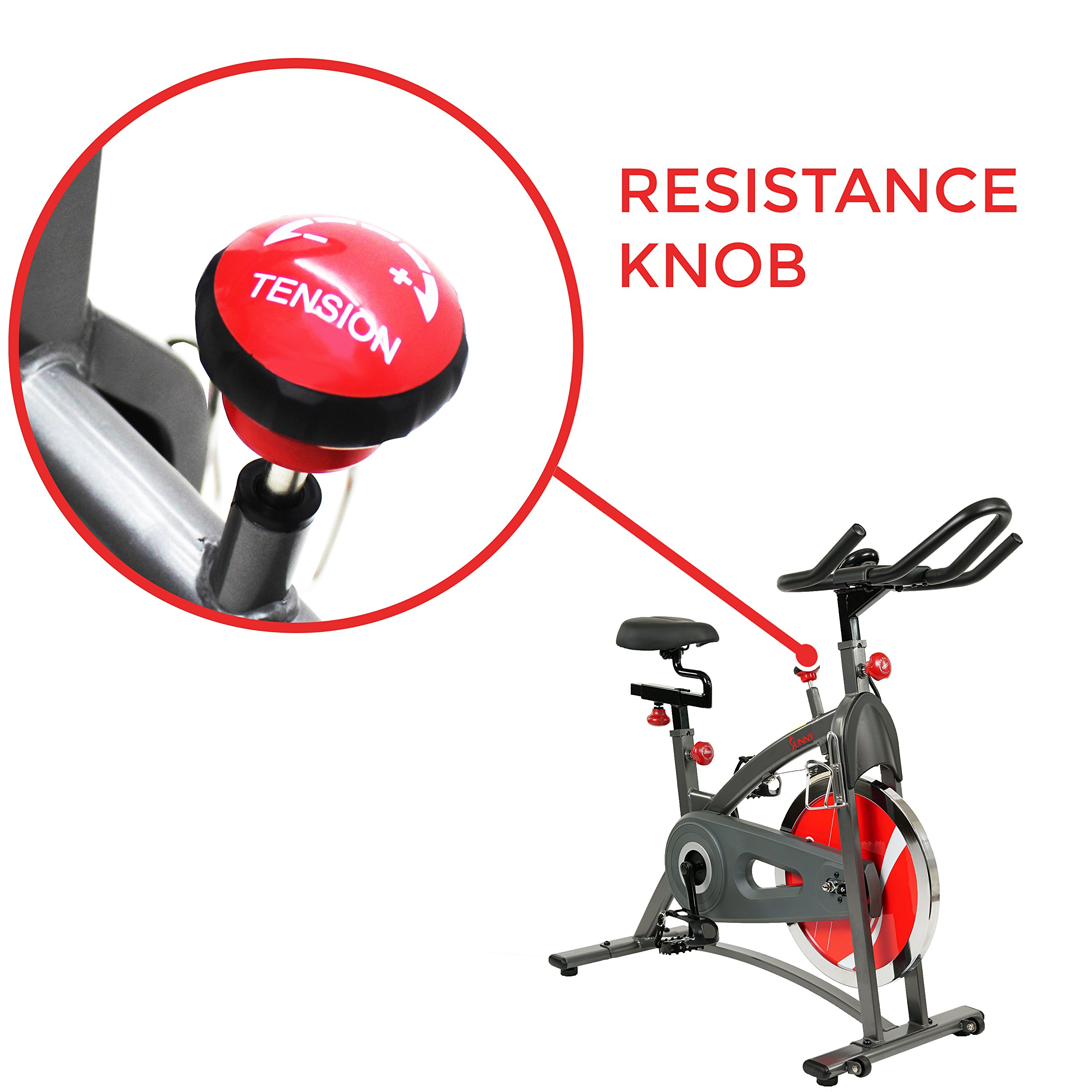 Sunny Health & Fitness Belt Drive Indoor Cycling Bike SF-B1423 by Sunny Health & Fitness (Image #4)