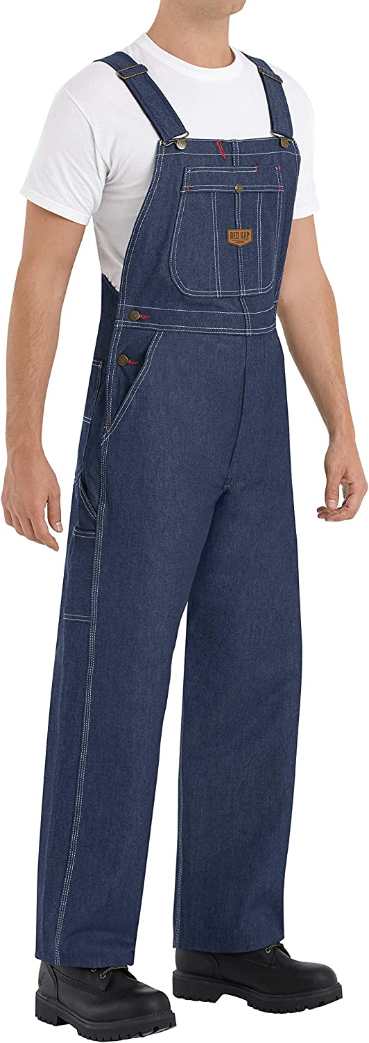 Red Kap Men's Denim Bib Overall