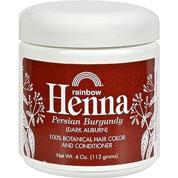 27bcffa4c06e8 Amazon.com : Rainbow Research Henna Hair Color And Conditioner Persian  Burgundy Dark Auburn - 4 Oz : Beauty