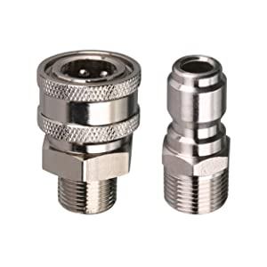 Tool Daily Pressure Washer Adapter Set, Quick Connect Kit, 3/8 Inch Male Thread Fitting, 5000 PSI