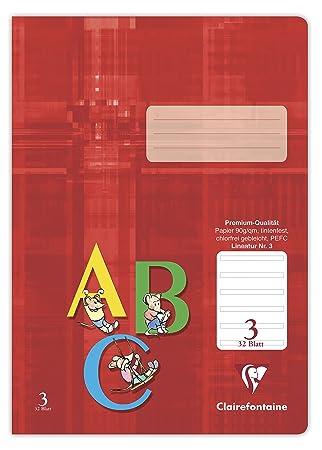 Clairefontaine Schulheft Premium DIN A4 Lineatur 2 32 Blatt grüne Seiten