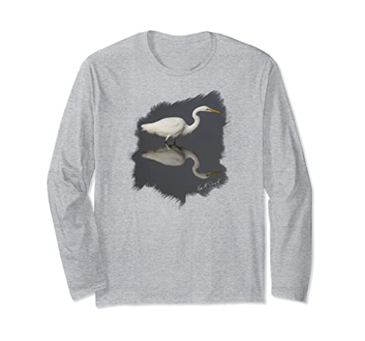 Egret Reflections Long-sleeved T-Shirt