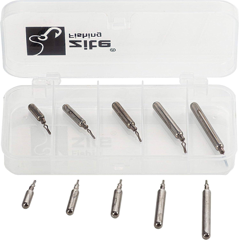 Clip Angel-Gewichte Set als Blei-Alternative Zite Fishing Tungsten Drop-Shot Gewichte Sortiment 3,5-14g 10 St/ück