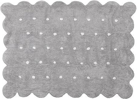 Aratextil Cookie Alfombra Infantil, Algodón, Gris, 120 x 160 cm ...