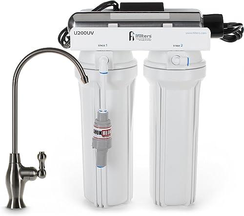 U200UV Ultraviolet UV Drinking Water Filtration Purifier System 3 Stage Ultimate Filter Sterilize – Built in USA