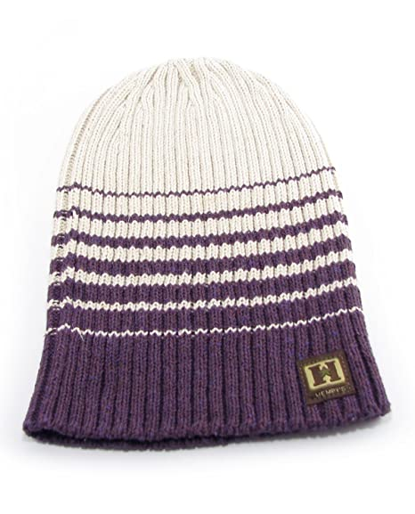 22a12cc22e5 Amazon.com   Hemp Summit Thick Rib Beanie (purple)   Sports   Outdoors