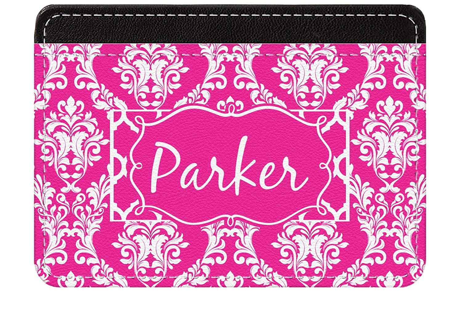 Personalized Moroccan /& Damask Genuine Leather Front Pocket Wallet