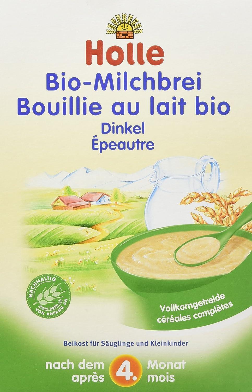 Holle Bio-Milchbrei Dinkel, 3er Pack (3 x 250 g) 2201A Allergenarm Demeter