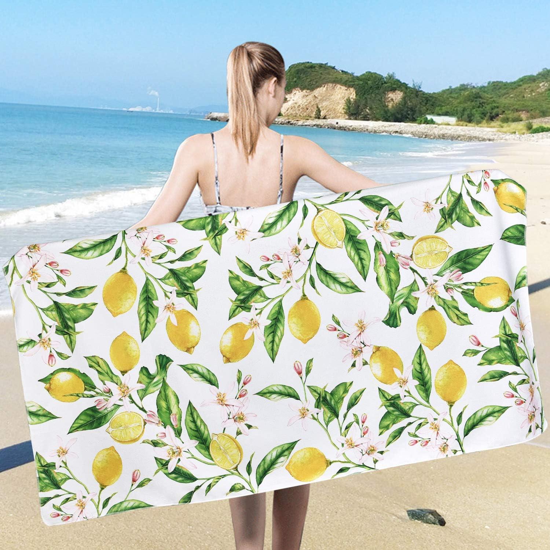 Women Girls Teens Ladies Floral Jacquard Velour Large Cotton Beach Bath Towel