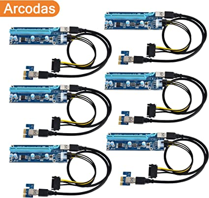 USB3.0 PCI Express 1x to 16x Extender Riser Card Adapter W 24 inch Cable USA