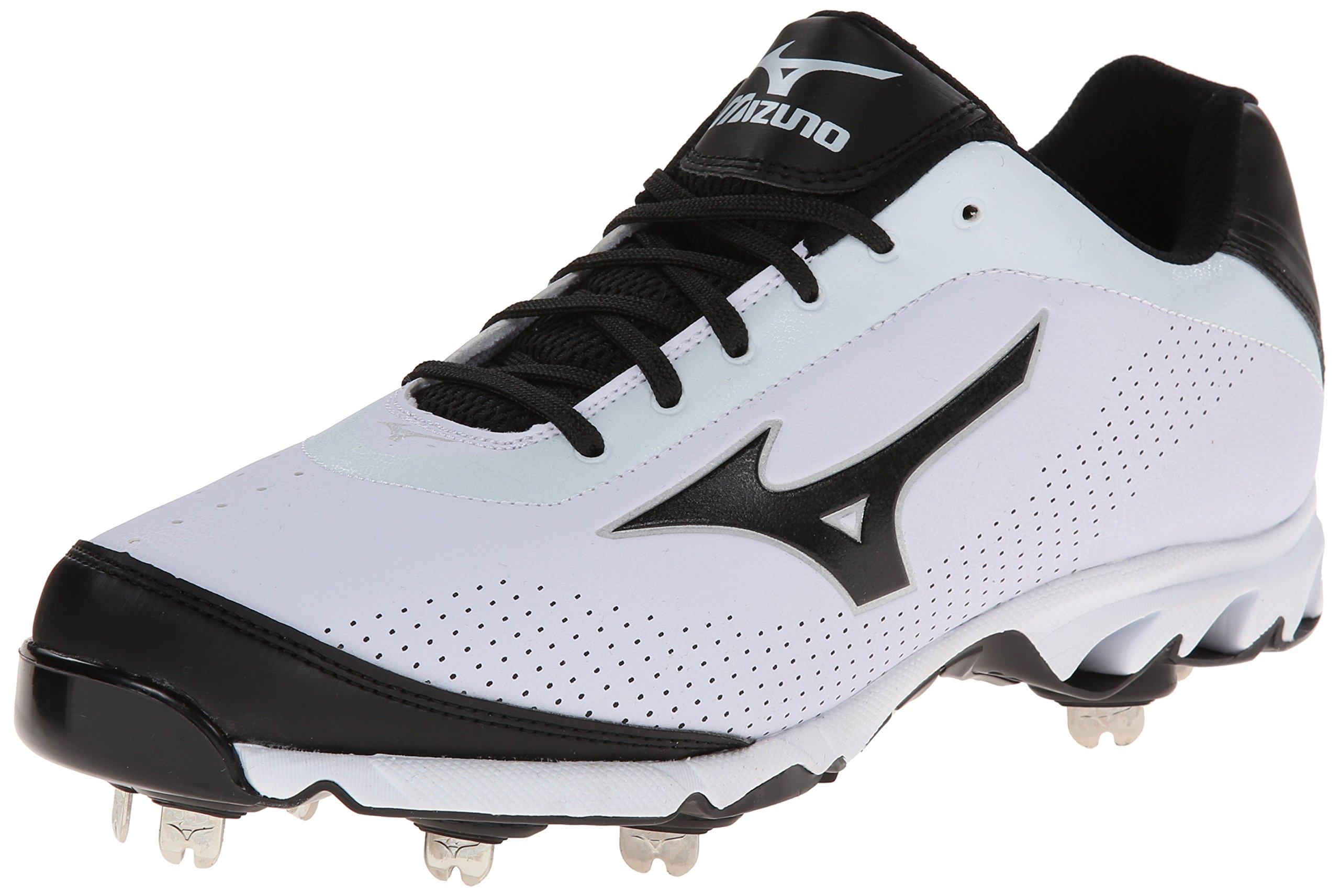 Mizuno Men's Vapor Elite 7 Low Baseball Cleat,White/Black,14 M US by Mizuno