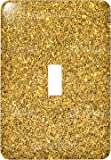 3dRose (lsp_221595_1) Print of Gold Sparkles Glitter Single Toggle Switch