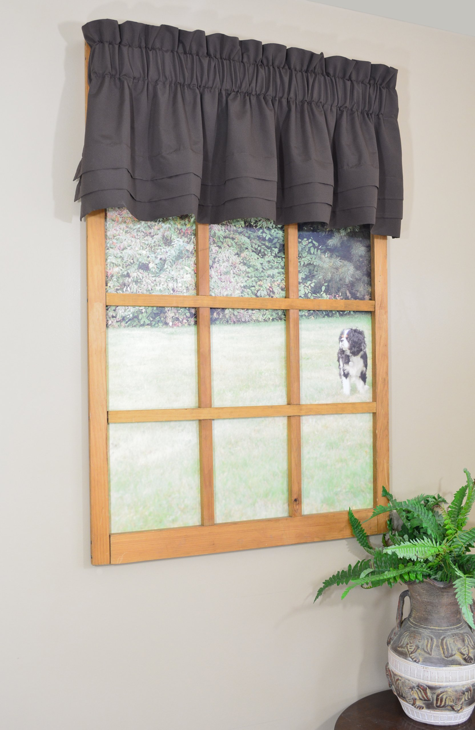 Curtain Chic Supple Microfiber Cumberbund Valance, Dark Chocolate - Tailored valance with horizontal pleats Supple hand for superior drape Softly brushed microfiber compliments most types of decor - living-room-soft-furnishings, living-room, draperies-curtains-shades - 81nKRXEsZ4L -