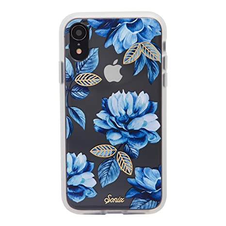 the best attitude 9cf4a a01f8 Sonix Indigo (Blue Flowers) Cell Phone Case [Military Drop Test Certified]  Women's Protective Clear Case for Apple iPhone XR