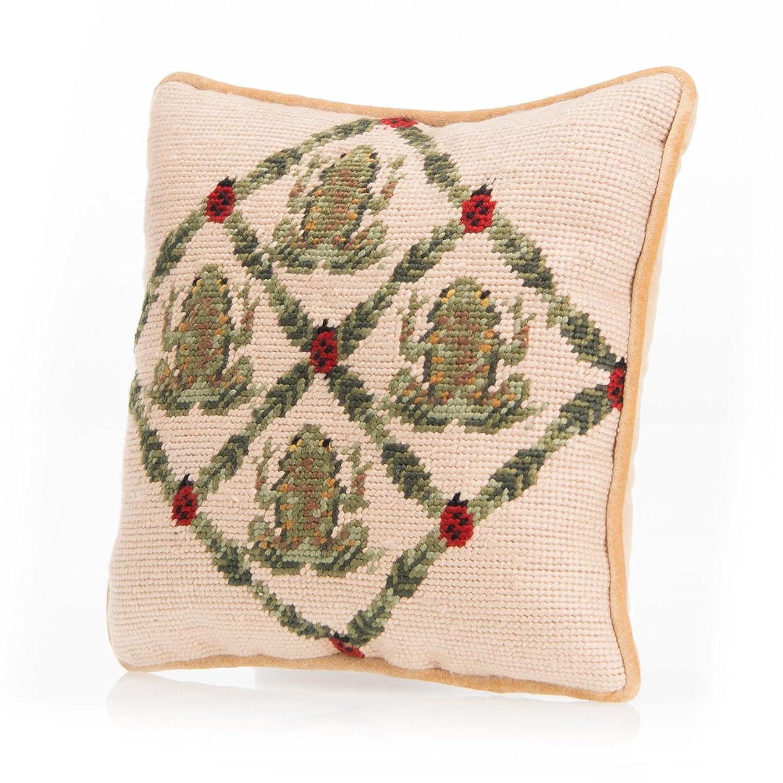 Glenna Jean Frog Ladybug Pillow