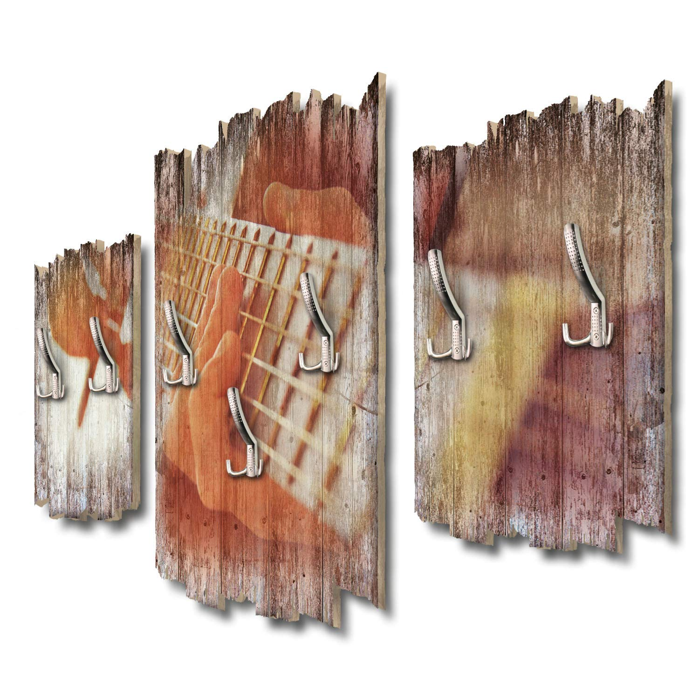 Kreative Feder Gitarre Designer Wandgarderobe Flurgarderobe Wandpaneele 95 x 60 cm aus MDF DTGH055